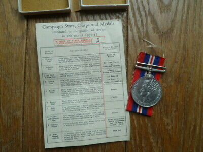 £15 • Buy WWII WAR MEDAL In Addressed Box MEDICAL SERVICE / ATS