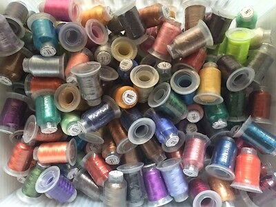 $0.99 • Buy Big Lot Of 100 Spools Polyester Embroidery Machine Thread
