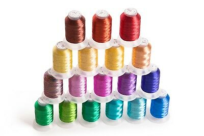 $0.99 • Buy 18 Spools METALLIC Embroider Machine Thread - Thread Nets For Easy Embroidery