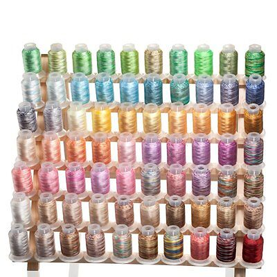 $0.99 • Buy 70 Spools Variegated/Shading Embroidery Machine Thread  70 Different Colors