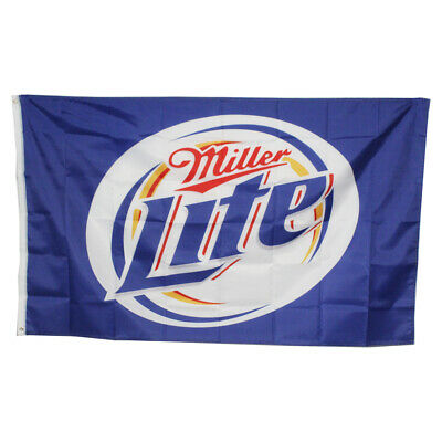$9.99 • Buy New Miller Lite 3ft X 5ft Flag With Metal Eyelets