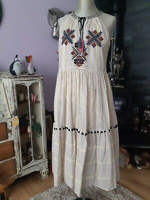£6 • Buy Lovely Tu Aztec Embroidered Smock Dress Size 8 Bnwts