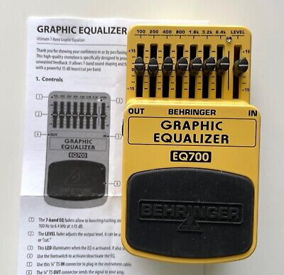 $ CDN31.31 • Buy Behringer EQ700 Graphic Equaliser Guitar Effects Pedal - With Instructions