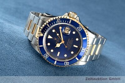 $ CDN13115.81 • Buy Rolex Submariner Date Blue Stahl / Gold Automatik Oyster Perpetual Ref. 16613