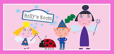 £5.29 • Buy Ben And Holly's Little Kingdom Personalised Handmade Wooden Door Sign Gift Idea