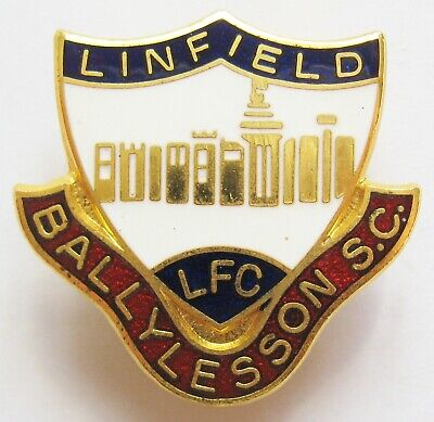 £14.99 • Buy LINFIELD - Enamel Football Pin Badge BALLYLESSON SUPPORTERS CLUB