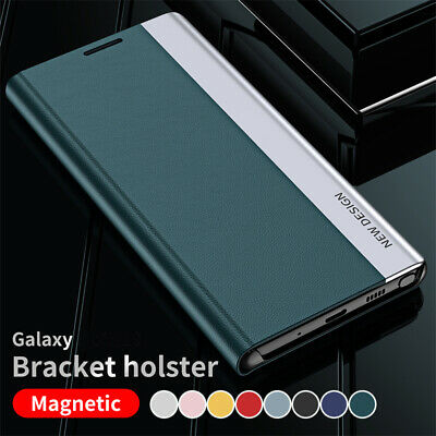 AU13.29 • Buy For Samsung S21 Ultra S20 FE S9 S10 Plus Case Magnetic Leather Flip Galaxy Cover
