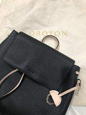 AU250 • Buy Oroton 'Estate' Mini Backpack In Black/ Blue (pre-owned: Excellent Condition)