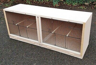 £52 • Buy Double Finch Breeding Cage  38  X 15 X 12  With 2 DOOR BLACK FRONTS