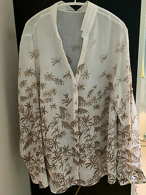 £15 • Buy Brax Long Sleeved Ramie Voile Shirt, Size 20