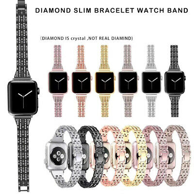 AU14.99 • Buy For Apple Watch Band SE 6 5 4 3 Bling Stainless Steel Bracelet IWatch Strap Lady
