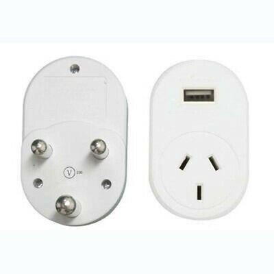AU25.99 • Buy OSA Travel Adaptor - Sth Africa India With Usb Large Pin