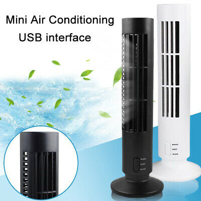 AU24.55 • Buy Mini USB Tower Fan No Leaf Bladeless Air Conditioner Cool Cooling Desk Decor