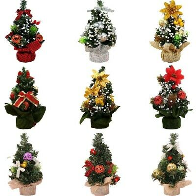 £4.23 • Buy Desk Table Mini Christmas Tree Xmas Party Ornaments Ctue Home Decoration NEW