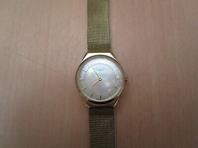 £30 • Buy Ladies Rotary Dolphin Standard Mother Of Pearl Watch With Gold Tone Mesh Strap