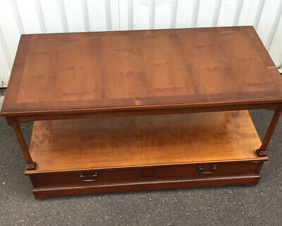 £60 • Buy William Bartlett Strongbow Yew TV/Coffee Table On Castors