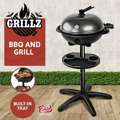 AU129 • Buy Grillz Electric BBQ Grill Smoker Outdoor Kitchen Kettle Portable Non Stick Oven