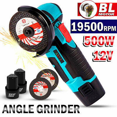 £45.79 • Buy Mini Cordless Angle Grinder Polishing Brushless Cutter+2 Battery&Charger +2Discs