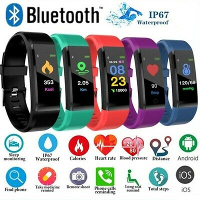 AU14.99 • Buy Fitness Smart Watch Activity Tracker Heart Rate For Women Men-Fitbit IOS Android