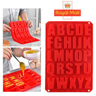 £4.09 • Buy Alphabet Letter Ice Chocolate Silicone Mould Stencil Cake Jelly Cupcake Mold UK