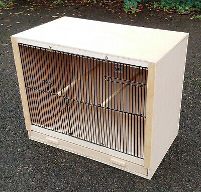 £27 • Buy Single Finch Breeding Cage  19  X 15 X 12 With 2 Door BLACK FRONTS