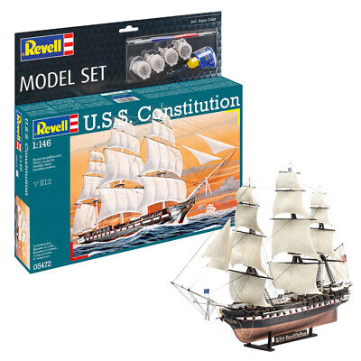 £30.99 • Buy Revell 65472 USS Constitution Warship Model Kit Scale 1:146 With Paints And Glue