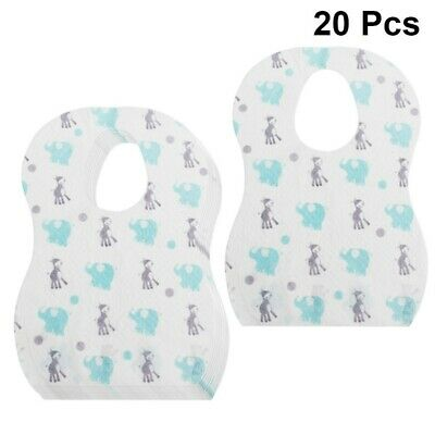 £6.25 • Buy 20pcs Bib Disposable  Waterproof Baby Bibs For Toddlers Baby Infant