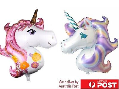 AU4.26 • Buy Huge Unicorn Foil Balloon Kids Birthday Party Decor Baby Shower Party Supplies