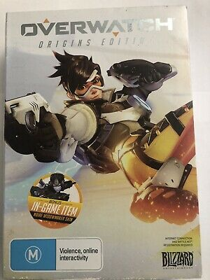 AU7.99 • Buy Overwatch Origins Edition PC Game - USED Good Condition Includes Notepad & Cards