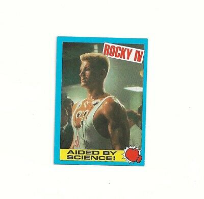 £1.50 • Buy 1985 Rocky IV Topps Chewing Gum Card No 34 Aided By Science