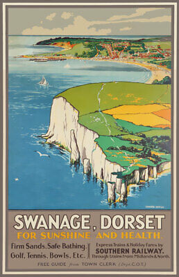 £3.75 • Buy TX545 Vintage Swanage Dorset Travel Poster Southern Railway Poster A2/A3/A4