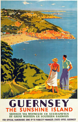 £7.75 • Buy TX474 Vintage Guernsey Travel Poster GWR Southern Railway Print A2/A3/A4