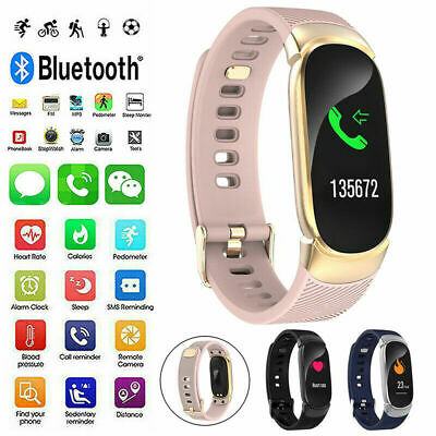 AU28.99 • Buy Smart Watch Heart Blood Pressure Rate Fitness Waterproof Tracker IPhone Android