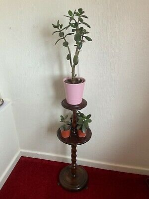 £60 • Buy Vintage Antique Barley Twist Tall Wooden Ashtray Stand / Could Be Plant Stand ?