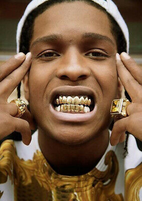 £3.89 • Buy Teeth Grills Tooth Grill Full Mouth Cap Hip Hop 24k Gold Plated Gift