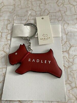 £14.99 • Buy Radley Jump Leather Keyring Red, New With Tags- Free Postage