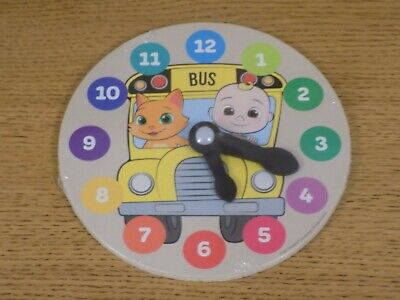 £4.99 • Buy Cocomelon Wooden Puzzle Clock - Learn To Tell The Time - NEW