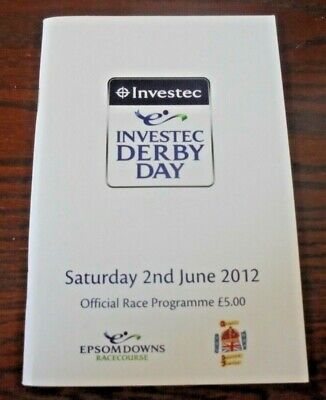 £3.95 • Buy Epsom Race Card June 2nd, 2012 - The Derby & Camelot (j.o'brien & A.o'brien)