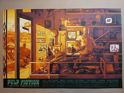 £110 • Buy Pulp Fiction -  1st Edition Screen Print Poster - By Kevin M.Wilson - Nt Mondo