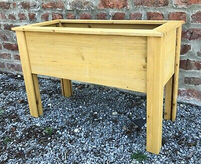 £35.99 • Buy Garden Wooden Planter Grow Box Container Raised Bed Herbs Vegetable