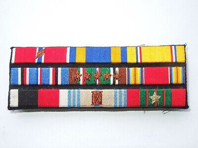 £47.28 • Buy WWII US Army Officer Croix De Guerre European Service Embroidered Ribbon Bar