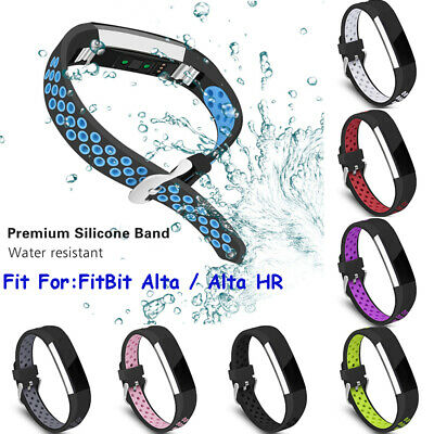 AU6.29 • Buy For Fitbit Alta HR Wrist Straps Silicone Wristbands Replacement Sport Watch Band
