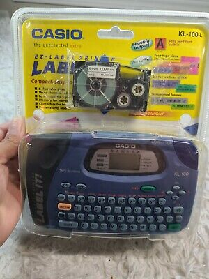 £36.36 • Buy Casio KL-100 EZ Label Printer Label Maker.BRAND NEW ONLY ONE LISTED SEALED NEW