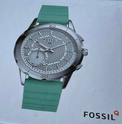 AU129.99 • Buy FOSSIL Q Hybrid Smart Watch | Silver | Green Silicone Band USED ONCE! NEAR NEW