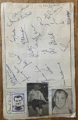 £24.99 • Buy Squad Signed X30+ Fulham FC Charlie Mitten Football Autograph Team Sheet