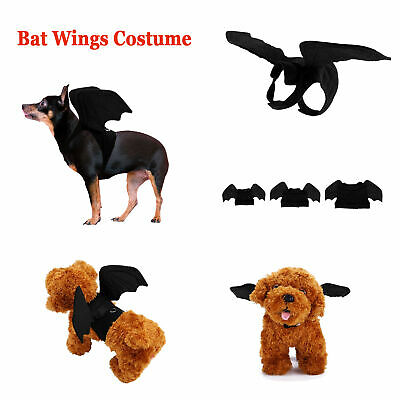 £7.69 • Buy Halloween Pet Bat Wings Costume Dog Cat Puppy Bat Cosplay Clothes Outfit Dress