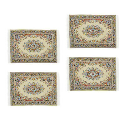 £4.99 • Buy Lots 4 1/12 Scale Mini Style Flooring Rug Dolls House Furniture Ornaments