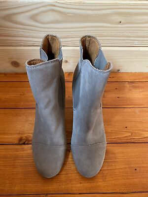 £25.99 • Buy Dr Scholl's Grey Suede Heeled Ankle Boots Size 6/39