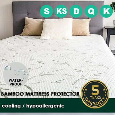 AU36.99 • Buy Bamboo Mattress Protector Cover Waterproof Matress Bed Topper Breathable Queen