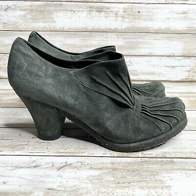 £36.36 • Buy Audley London Womens Pump Heels Size 8 Green Ruched Slip On Suede Cuban Shoes